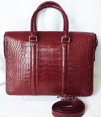 Túi xách da cá sấu hoa cà công sở  - 0216