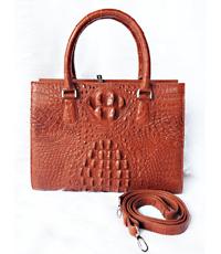 Túi xách da cá sấu nữ đỏ cam - A0134