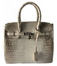 Túi xách da cá sấu nữ màu trắng - 0039