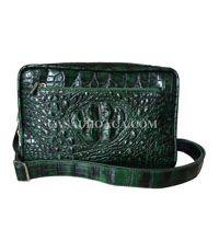 Túi đeo chéo nam da cá sấu hoa cà giảm giá - 00901