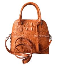 Túi xách nữ da cá sấu Hoa Cà da nguyên con - 0177