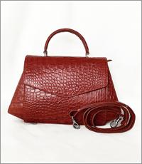 Túi xách nữ da cá sấu hoa cà - 0189