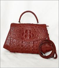 Túi xách nữ da cá sấu hoa cà - A0189