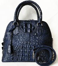 Túi xách nữ da cá sấu hoa cà navy - 0177