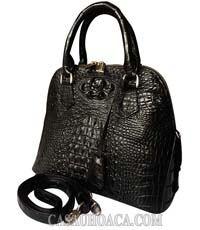 Túi xách nữ da cá sấu màu đen - 0177