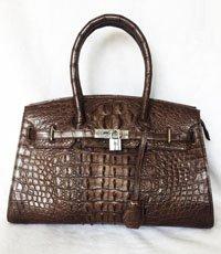 Túi xách da cá sấu Hoa Cà - 0158