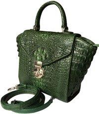 Túi xách nữ da cá sấu màu xanh - 0211