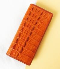 Ví nữ da cá sấu hoa cà đan viền  - D1518