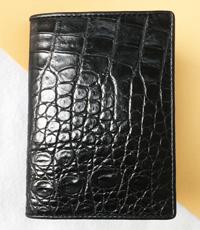 Ví passport da cá sấu hoa cà 1520
