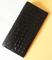 Ví passport da cá sấu hoa cà loại lớn - 1043