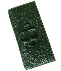 Ví passport da cá sấu màu xanh lá - 1043